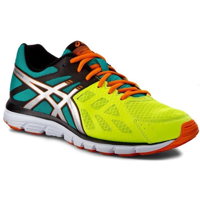 Shoes ASICS - Gel - Zaraca 3 T4D3N Flash Yellow/Silver/Flash Orange
