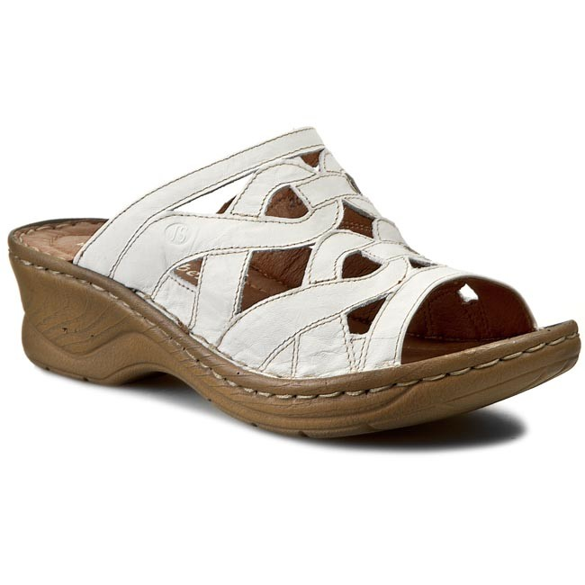 c52868d57e6bd Slides JOSEF SEIBEL - Catalonia 44 56508 61 800 Weiss - Casual mules -  Mules - Mules and sandals - Women's shoes - efootwear.eu