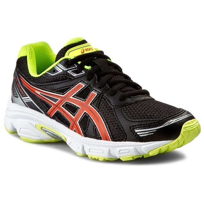 Shoes ASICS - Gel-Galaxy 7 GS C411N Black/Orange/Flash Yellow 9032