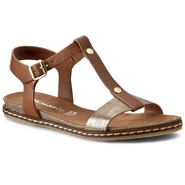 sandals tamaris 1 28162 34 cogn gold str 426 casual sandals sandals mules and sandals. Black Bedroom Furniture Sets. Home Design Ideas