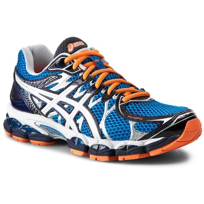 Shoes ASICS Gel Nimbus 16 T435N BlueWhiteFlash Orange 4201