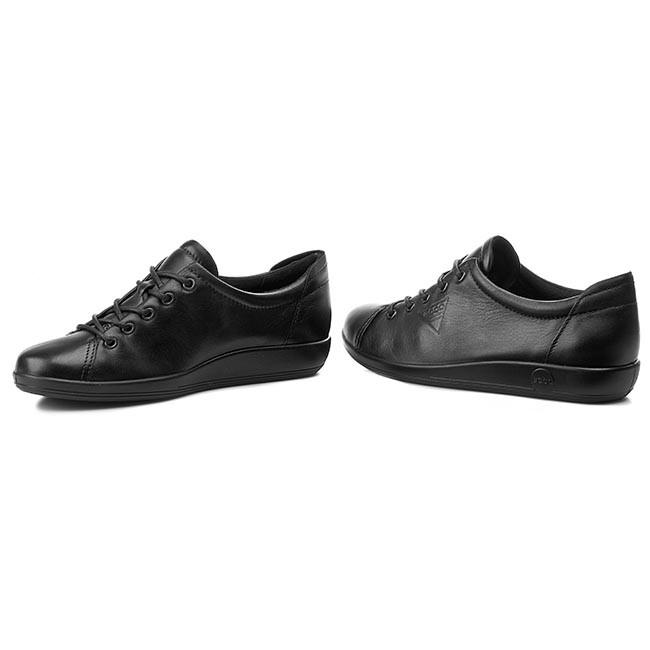 23bb29d37a800 Shoes ECCO - Soft 2.0 20650356723 Black With Black Sole - Flats ...