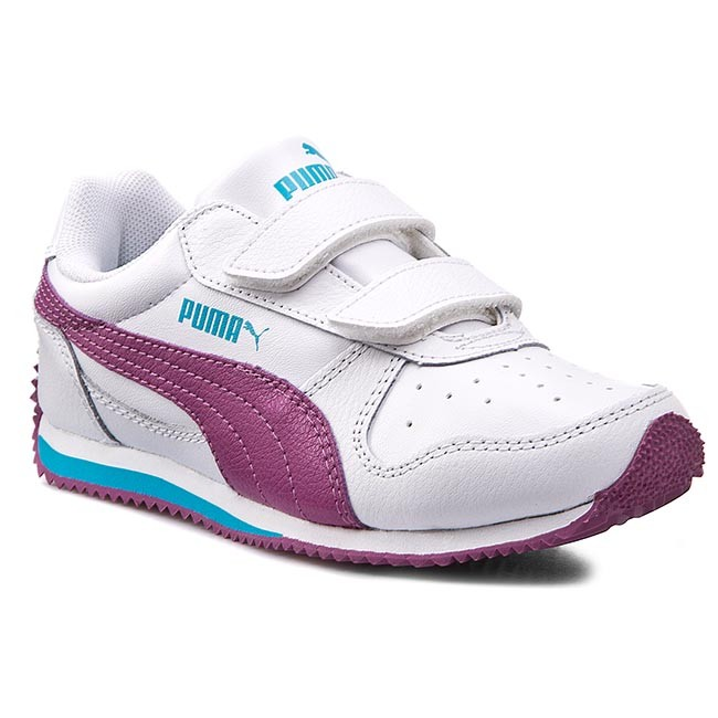 Shoes PUMA Fieldsprint L V Kids 354597 18 White VividViola Capri