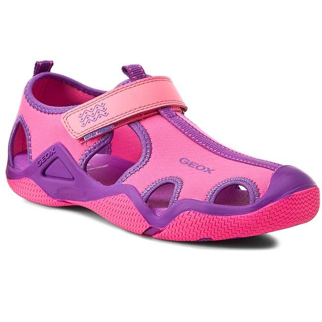 Sandals GEOX J Wader G.A J5208A 01550 C8315 FuksjaPurpurowy
