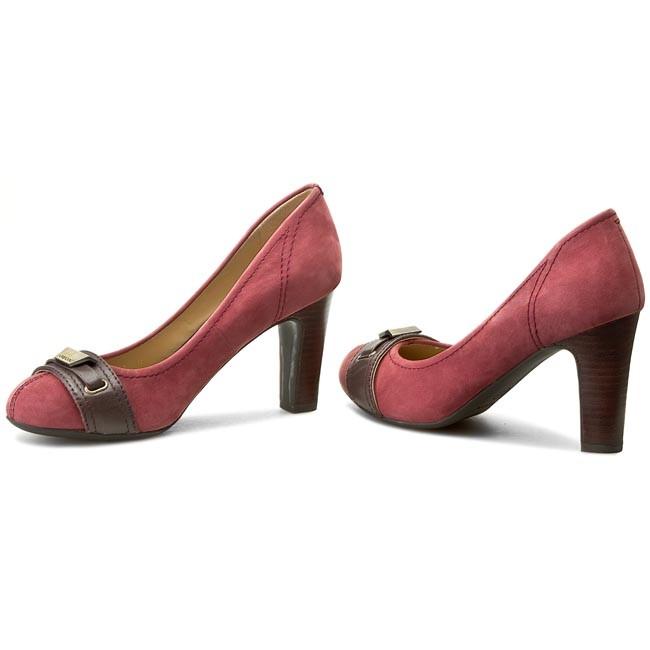 Shoes GEOX D New Mariele High A D4498A 03543 C7242 BordeauxCoffee