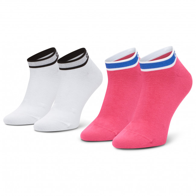 2 Pairs of Women's Low Socks CALVIN KLEIN - 100001900 Pink Combo 003