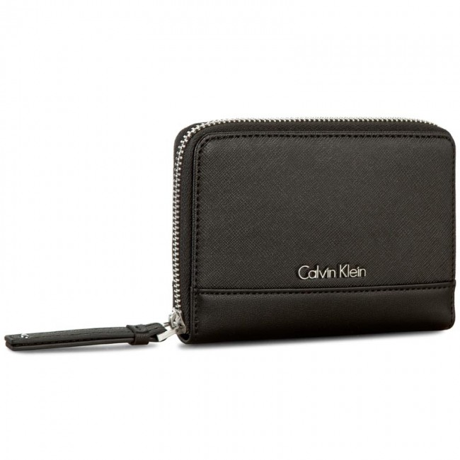 Large Women's Wallet CALVIN KLEIN - M4rissa Medium Ziparound K60K602100 001