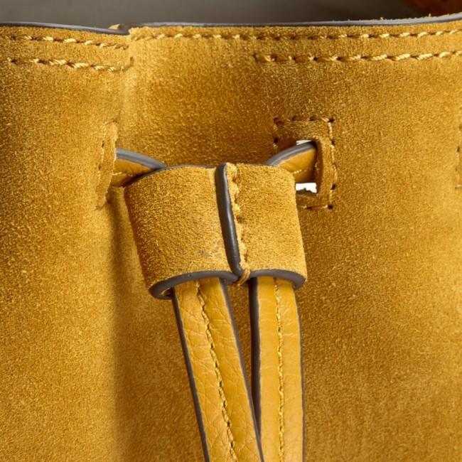 Handbag CALVIN KLEIN K3yla Suede Bucket Bag K60K602343 704