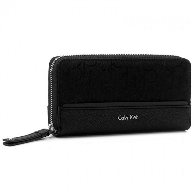 Large Women's Wallet CALVIN KLEIN - Marin4 Logo Large Zipa K60K602695 001