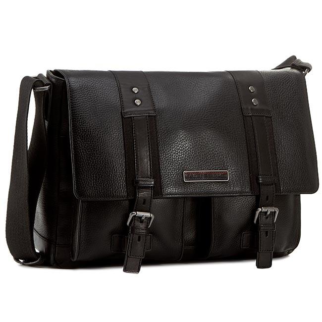 Bag TOMMY HILFIGER - Tiago Messenger W/Flap AM0AM00523 Black 910