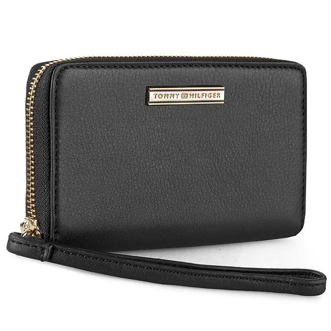 Large Women's Wallet TOMMY HILFIGER - Jacqueline Slim Med Z/A Wallet AW0AW01061 Black 002