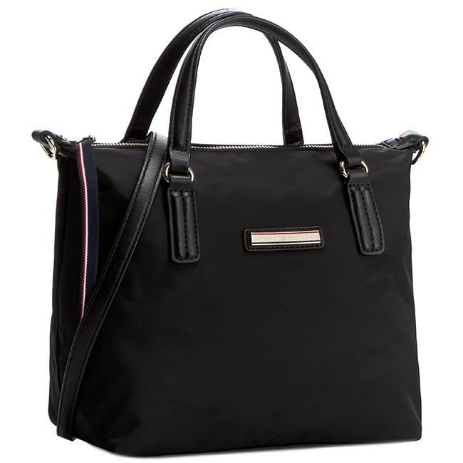 Handbag TOMMY HILFIGER - Poppy Small Tote AW0AW01136 Black 002