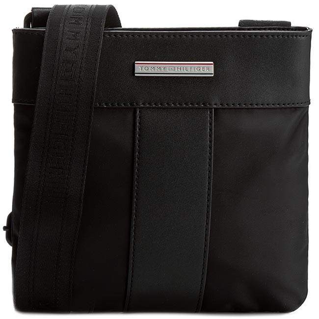 Messenger Bag TOMMY HILFIGER - Th Story L Mini Flat Crossover AM0AM00891 Black 002