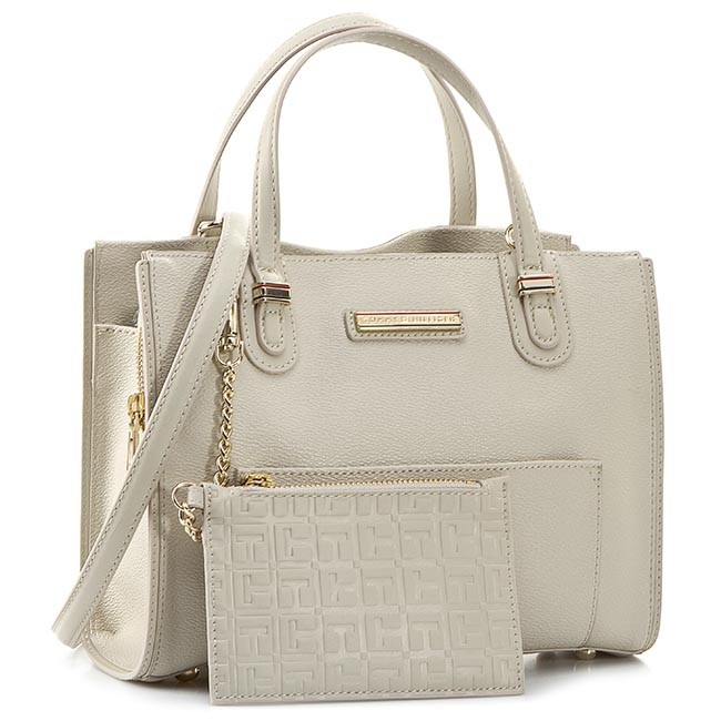 Handbag TOMMY HILFIGER - Amelie Small Tote AW0AW01384 Pumice Stone/Simple Taupe 909