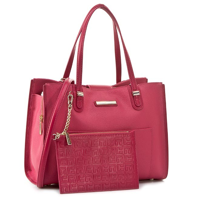 Handbag TOMMY HILFIGER - Amelie Medium Tote AW0AW01400 Baroque Rose/Deep Claret 906