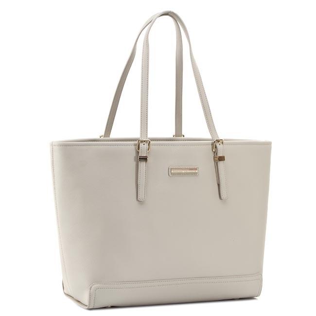 Handbag TOMMY HILFIGER - Honey Ew Tote Solid AW0AW01690 Pumice Stone 013