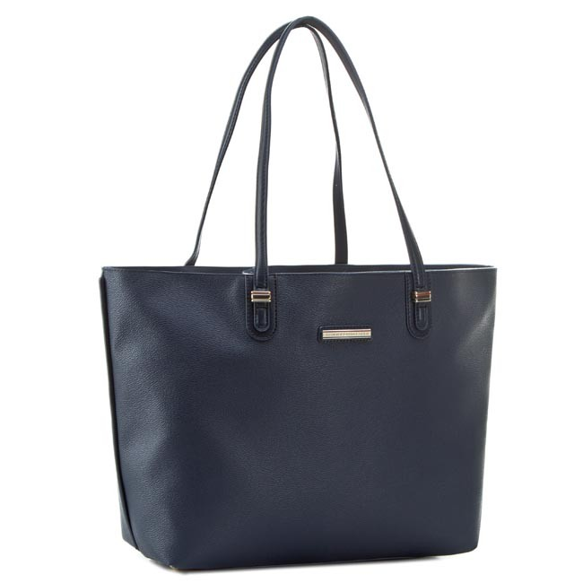 Handbag TOMMY HILFIGER - Amelie Tote AW0AW01726 Midnight 001