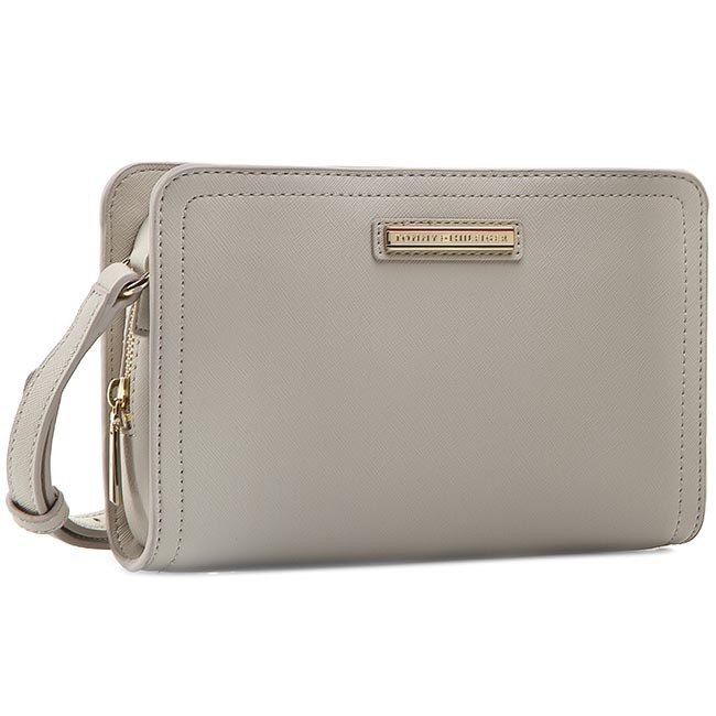 Handbag TOMMY HILFIGER - Honey Crossover Solid AW0AW01808 Pumice Stone 013