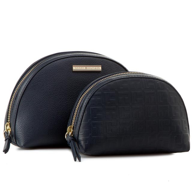 Beauty Case Set TOMMY HILFIGER - Amelie 2 In 1 Cosmetic Case AW0AW01812 Midnight 001