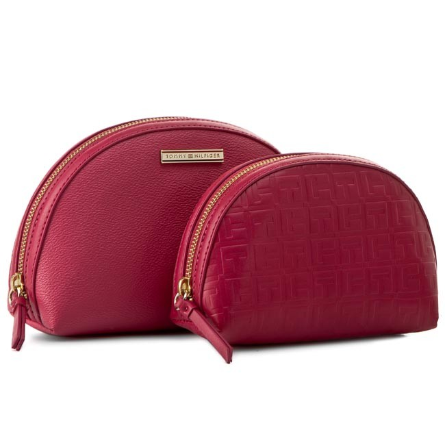 Beauty Case Set TOMMY HILFIGER - Amelie 2 In 1 Cosmetic Case AW0AW01812 Baroque Rose/Deep Claret 906