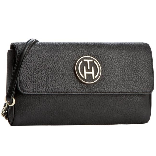 Handbag TOMMY HILFIGER - Party Time Happy Hour Clutch AW0AW01816 Black 002