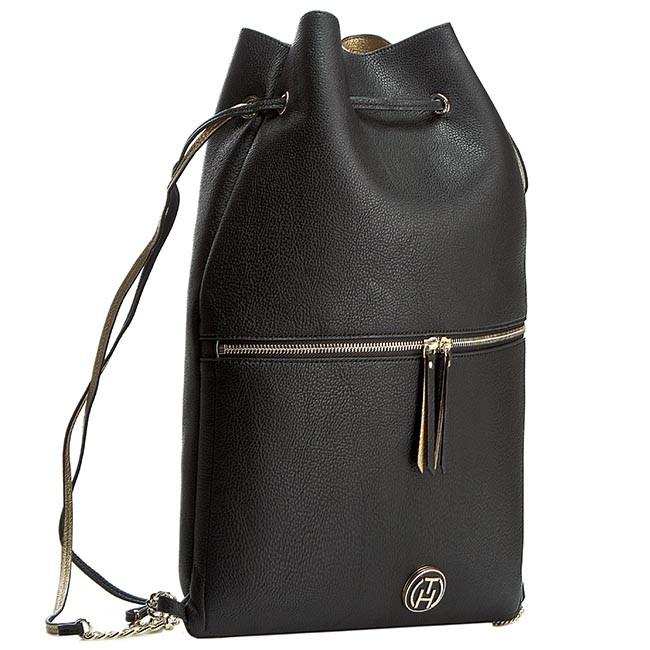 Backpack TOMMY HILFIGER - Rachel Backpack AW0AW01822 Black/Gold 909