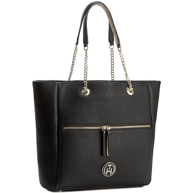 Handbag TOMMY HILFIGER - Rachel Tote AW0AW01823 Black/Gold 909