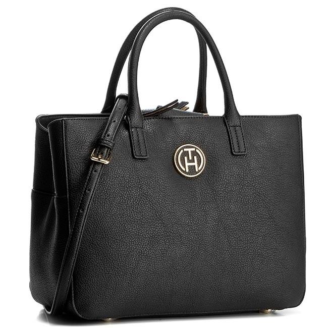 Handbag TOMMY HILFIGER - Rachel Satchel AW0AW01824 Black/Gold 909