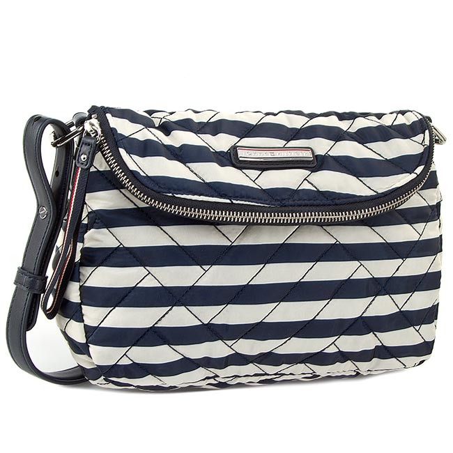 Handbag TOMMY HILFIGER - Neena Crossover Stripe AW0AW01861 Midnight Stripe 906