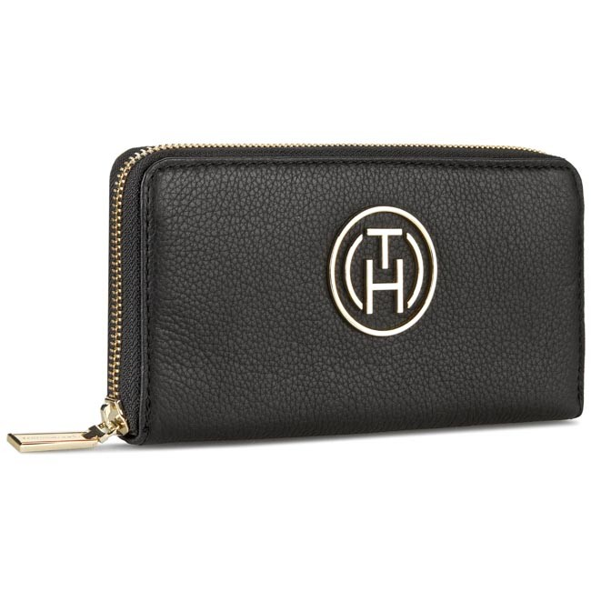 Large Women's Wallet TOMMY HILFIGER - Gift Giving Large Z/A Wallet AW0AW01802 Black 001