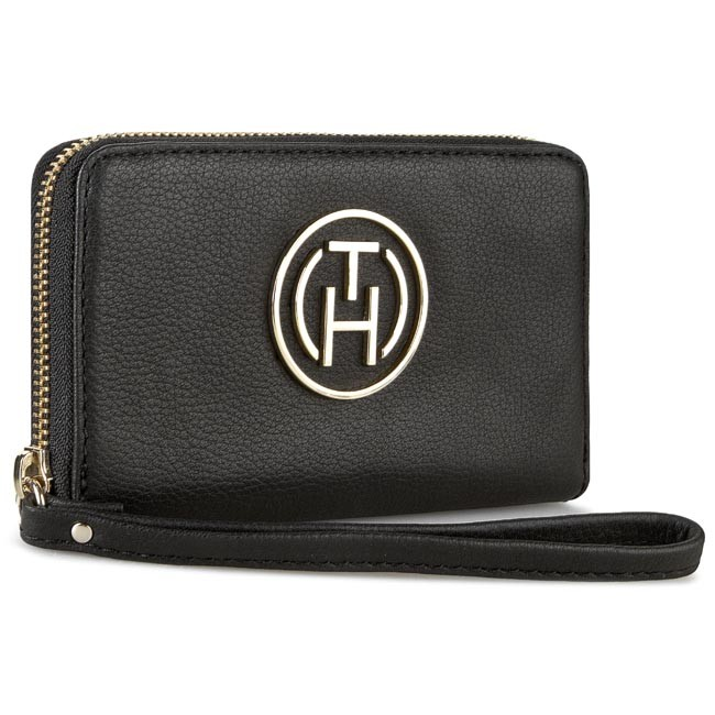 Large Women's Wallet TOMMY HILFIGER - Gift Giving Slim Med Z/A Wallet AW0AW01804 001