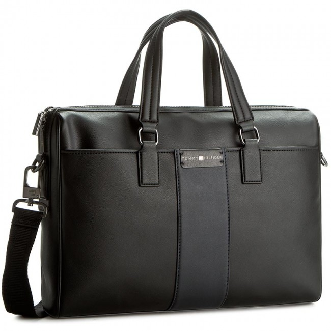 Laptop Bag TOMMY HILFIGER - Solid Story Computer Bag AM0AM01673 901
