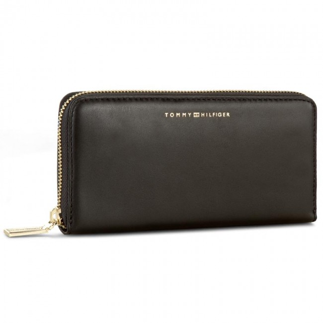 Large Women's Wallet TOMMY HILFIGER - Smooth Leather Large Z/A Wallet AW0AW03027 002