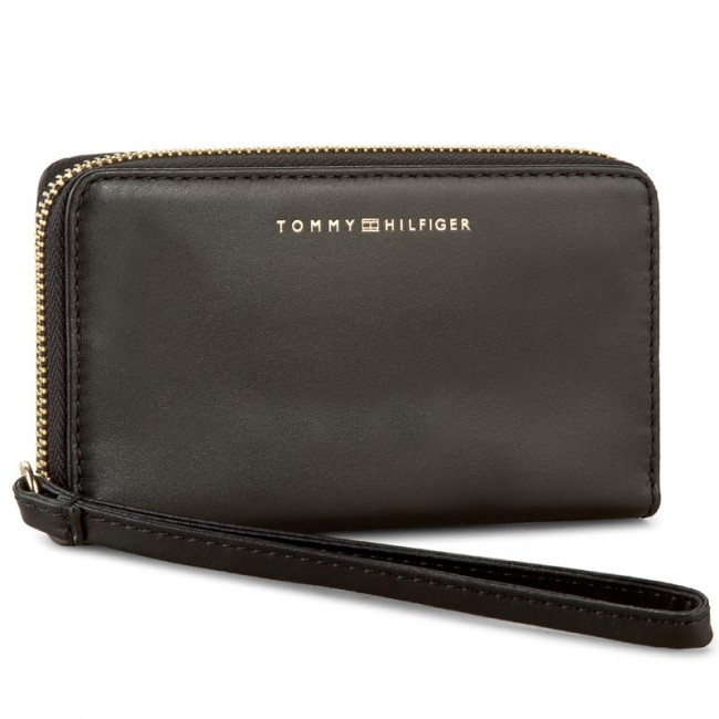 Large Women's Wallet TOMMY HILFIGER - Smooth Leather Med Slim Z/A Wallet AW0AW03075 002