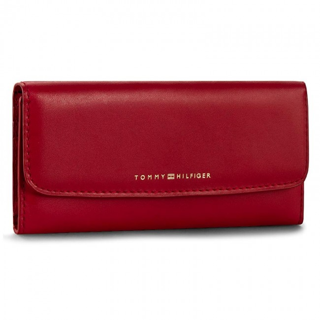 Large Women's Wallet TOMMY HILFIGER - Smooth Leather Slim Ew Wallet AW0AW03214 603