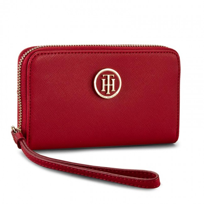 Large Women's Wallet TOMMY HILFIGER - Honey Med Za Wallet AW0AW03356 603