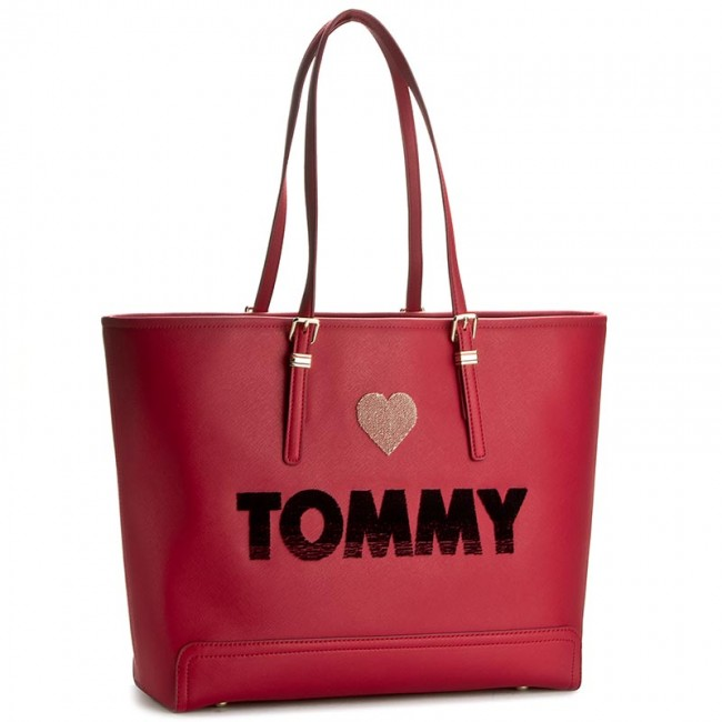 Handbag TOMMY HILFIGER - Honey Ew Tote Embroidered AW0AW03259 903