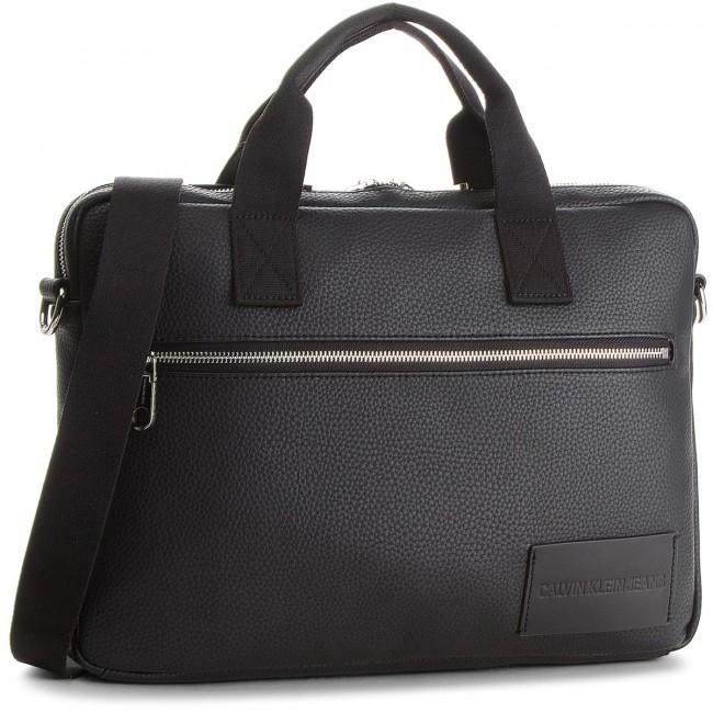 Laptop Bag CALVIN KLEIN JEANS - Pebble Slim Briefcas K40K400398 001