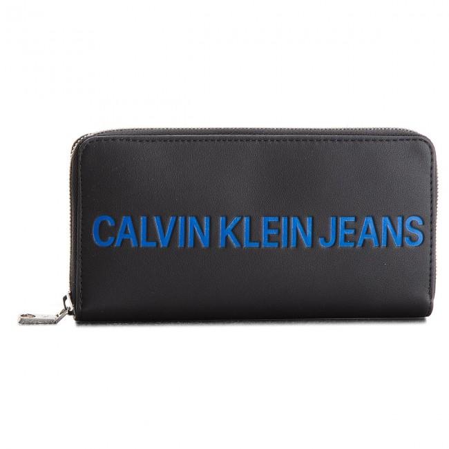 Large Women's Wallet CALVIN KLEIN JEANS - Sculpted Zip Around K40K400408 001