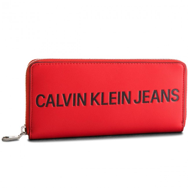 Large Women's Wallet CALVIN KLEIN JEANS - Sculpted Zip Around K40K400408 623