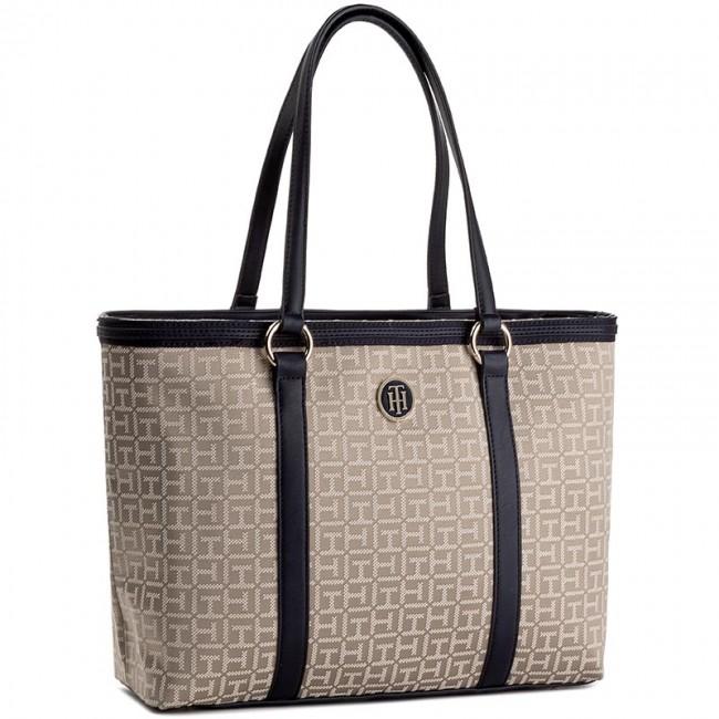 Handbag TOMMY HILFIGER - Th Essentials Medium Tote Jacquard AW0AW04074  901