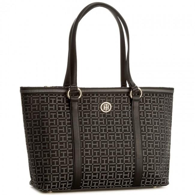 Handbag TOMMY HILFIGER - TH Essentials Medium Tote Black AW0AW04081 902