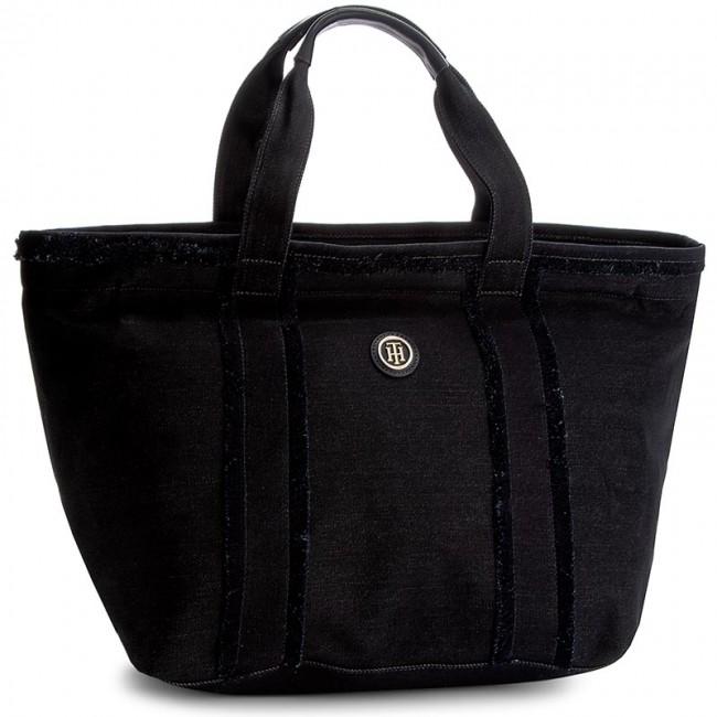 Handbag TOMMY HILFIGER - Fringe Tote Denim AW0AW04178  413
