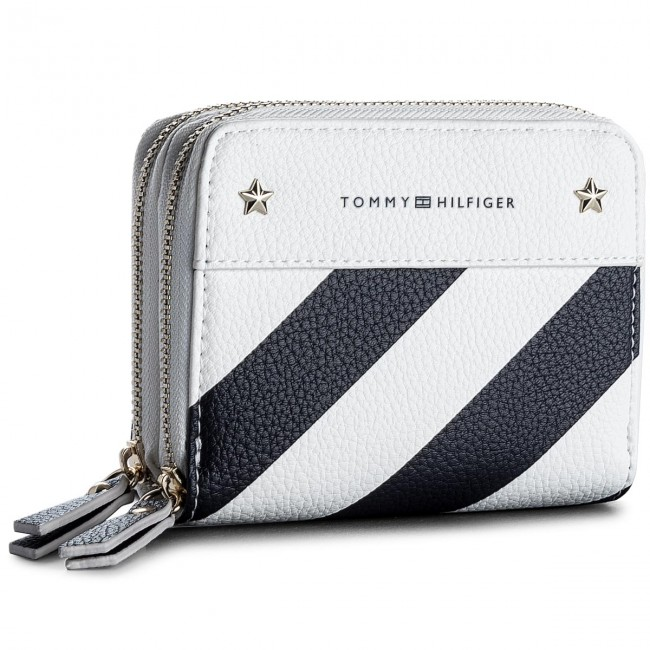 Large Women's Wallet TOMMY HILFIGER - Cool Hardware Dbl Zip M Wlt Strp AW0AW05177  901