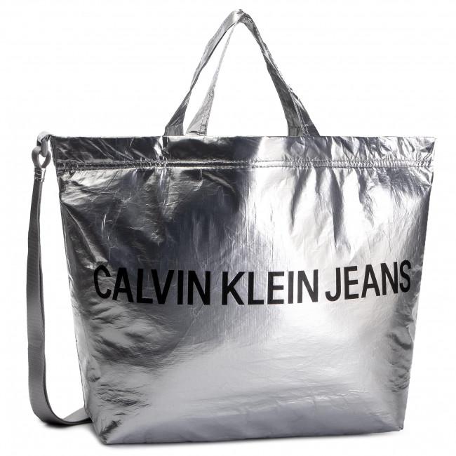 Handbag CALVIN KLEIN JEANS Wet Tyvec Ew Tote WEmbroidery K60K605541 081
