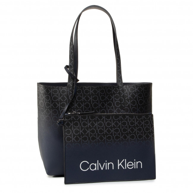 Handbag CALVIN KLEIN - Ck Mono Ombre Shopper Rev Md K60K606309 0GY - Canvas  Totes & Shoppers - Handbags | efootwear.eu