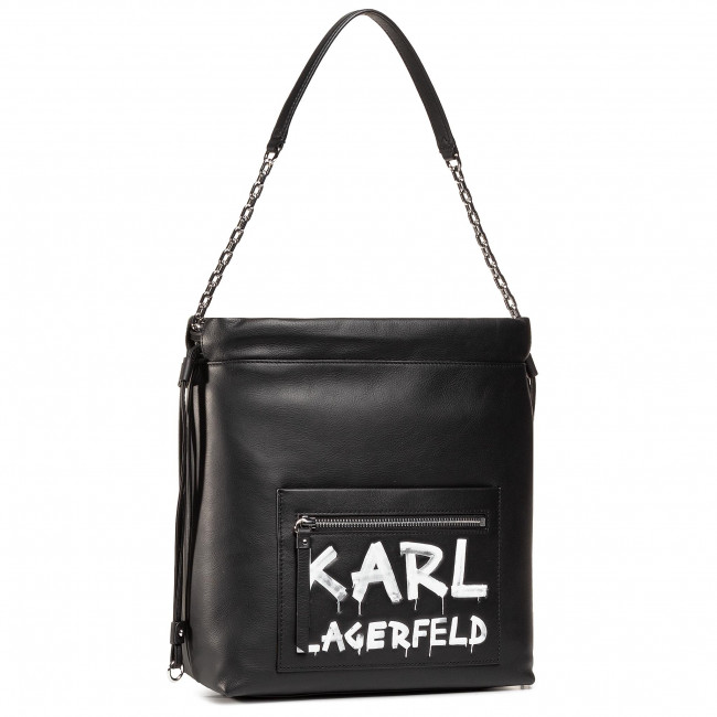 Handbag KARL LAGERFELD - 206W3062  Black/White 998