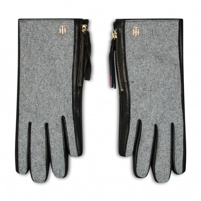 Women's Gloves TOMMY HILFIGER - Th Wool Mix Gloves AW0AW08943 0GY
