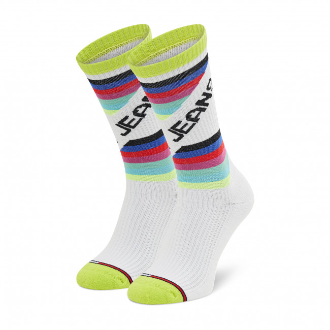 Tall Socks Unisex TOMMY JEANS - 701210560 Neo Lime 001