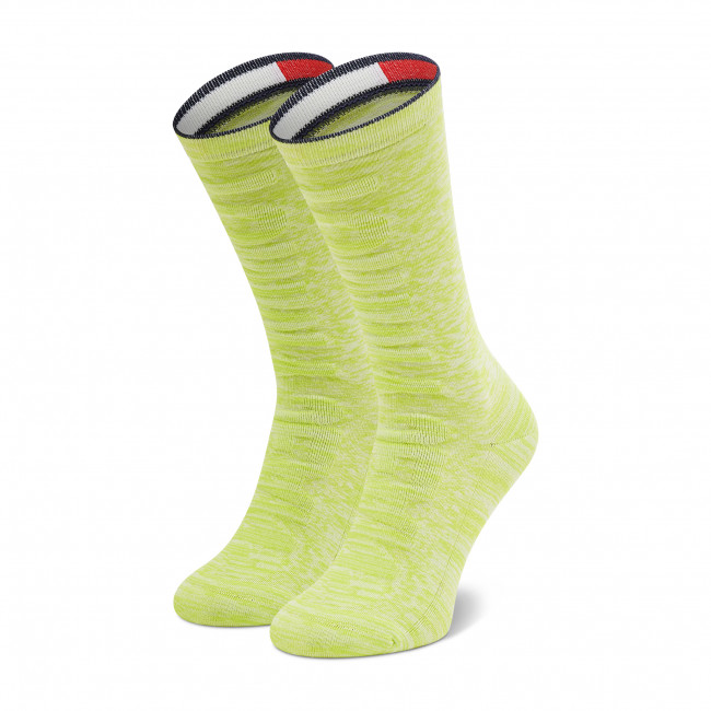 Tall Socks Unisex TOMMY JEANS - 701210863 Neon Yellow 001